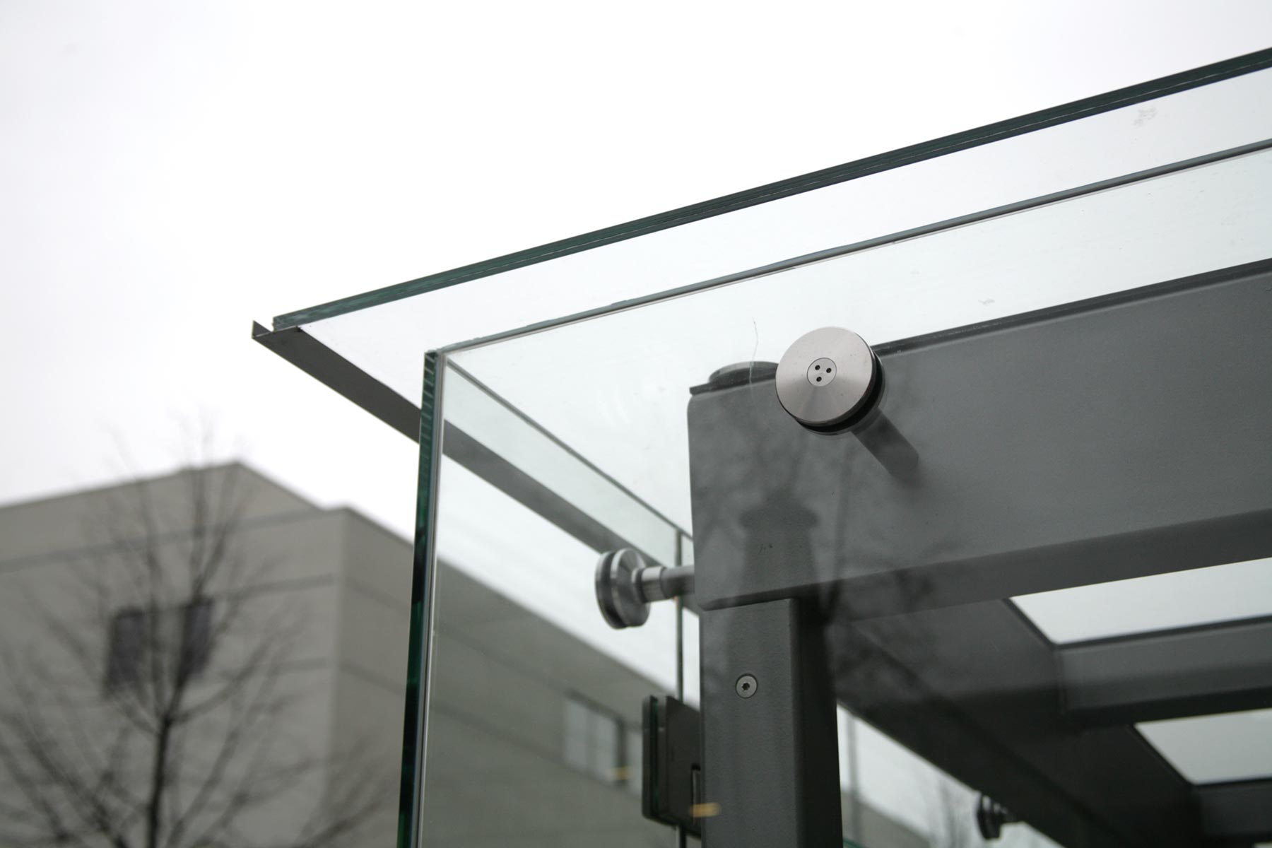 Windfang aus Glas